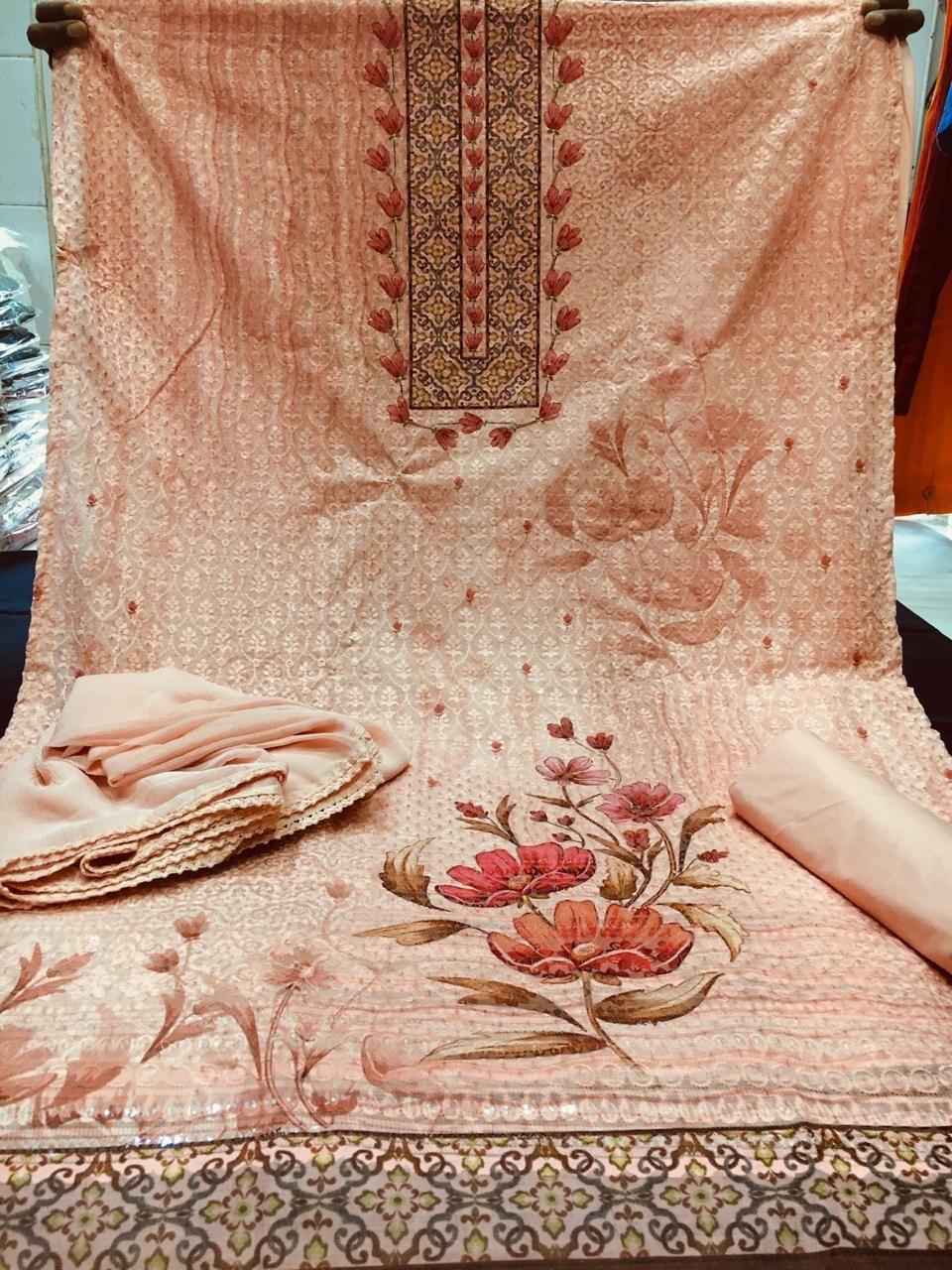 Digital printed dress material