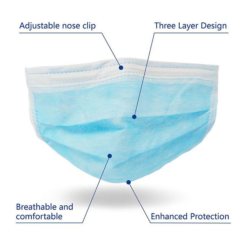 Non-woven 3 ply Disposable Surgical Face Mask
