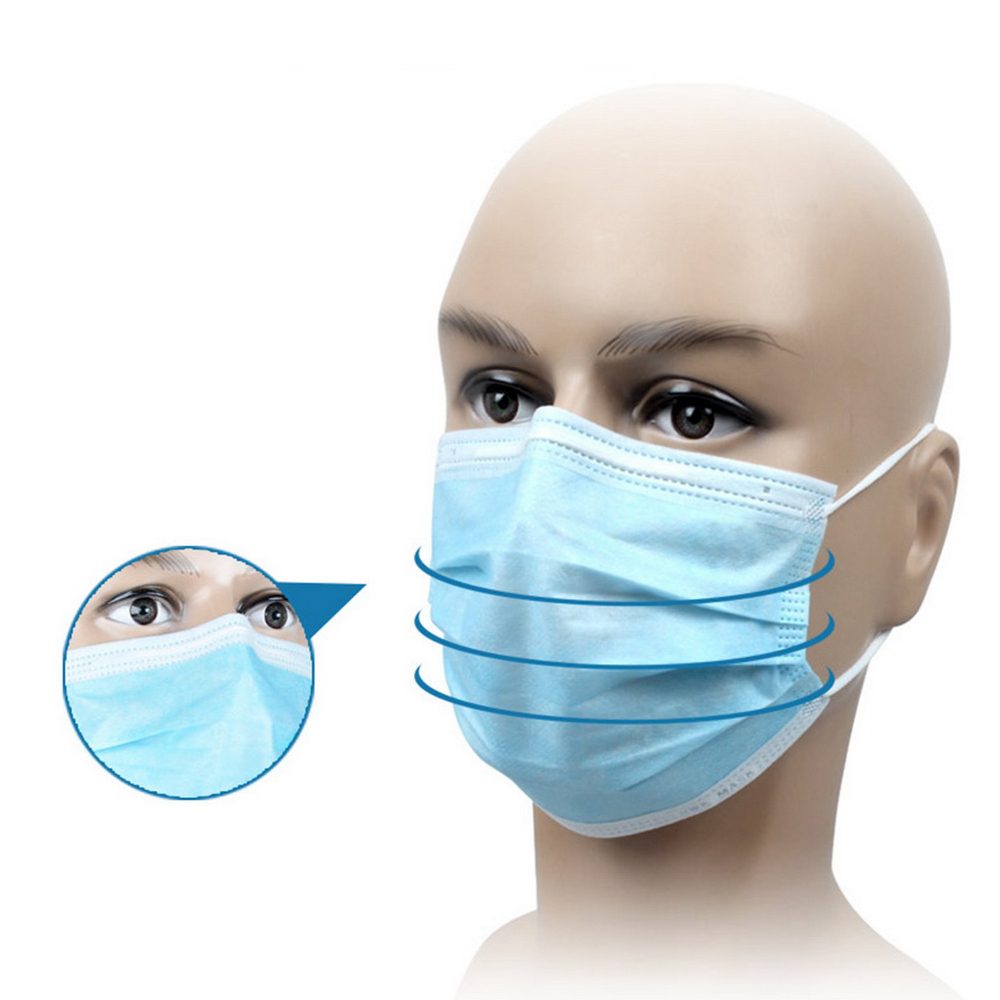 3 ply Non Woven Disposable Surgical Medical Face Mask With Earloop