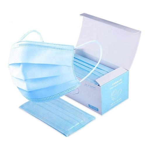3 ply blue medical procedure disposable surgical face mask