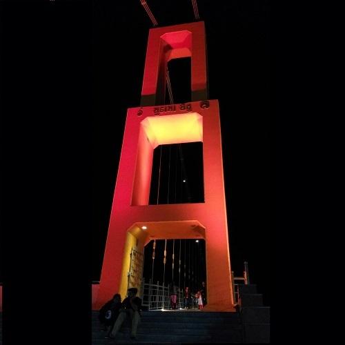 80 watt multi color led light