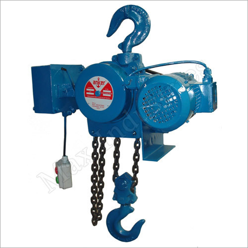 Motorized Triple Spur Gear Chain Pulley Block