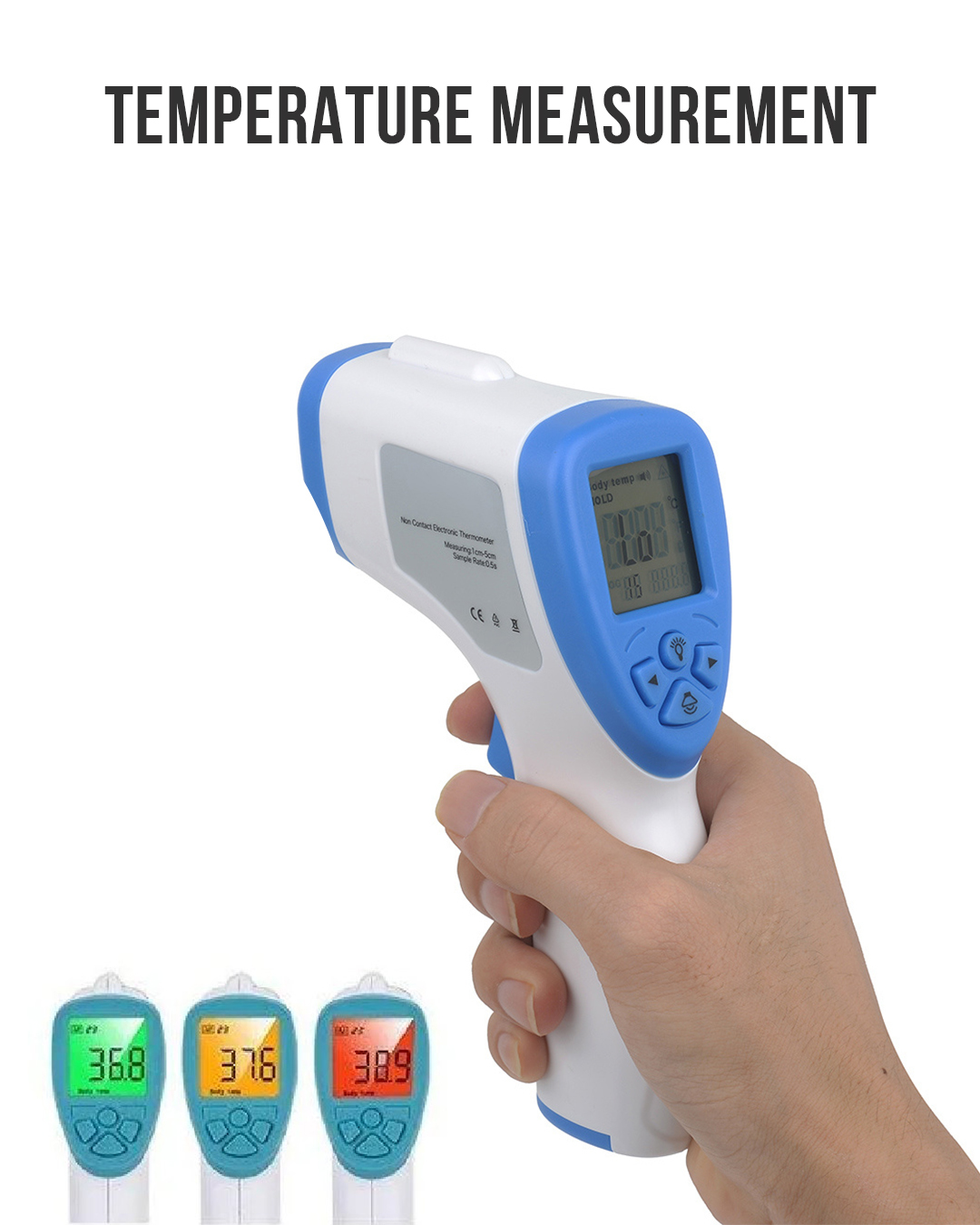Forehead Thermometer, Non-Contact Instant Reading °F/°C Infrared Digital Thermometer Temperature Measurement Device for Baby Kids and Adults, LED Screen Infrared Thermometer