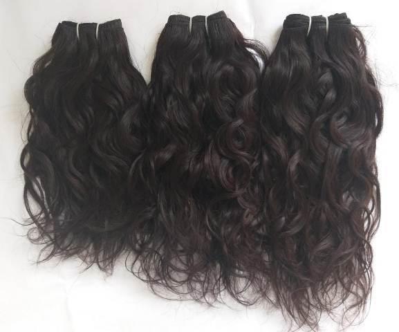 Double Drawn Wavy Human Hair