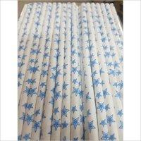 Star Print Paper Straw