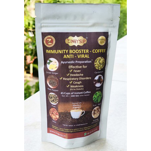 100 gm Zingysip Immunity Booster Coffee Anti Viral Coffee - Ayurvedic Herbs & Vitamin A & D