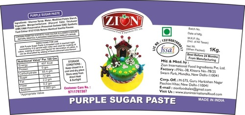 Purple Sugar Paste (Fondant)