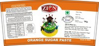 Orange Sugar Paste (Fondant)