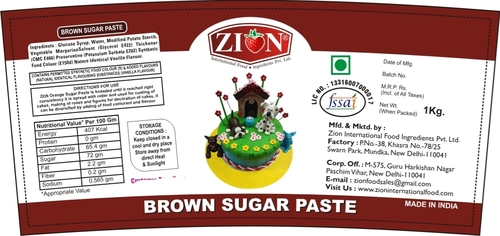 Brown Sugar Paste (Fondant)