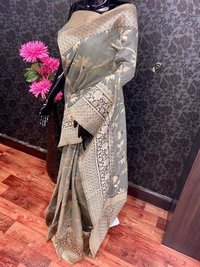 Meena Work Silk Saree