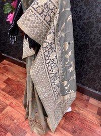 Meena Work Silk Saree