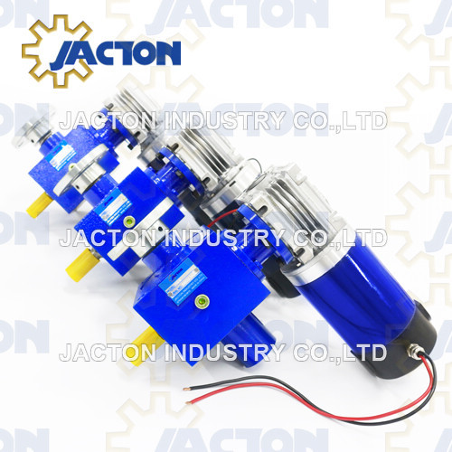 25 kN electric screw jack platform 2 inch worm gear motorized screw jack reducer
