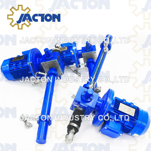 380mm lift mechanical electric screw jack 25 kN lifting force with proximity switches