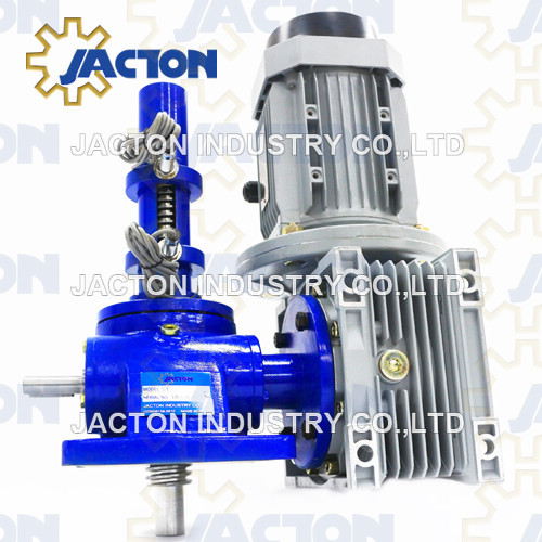 5 tons capacity electric worm gear screw jack 75mm stroke electric screw lift