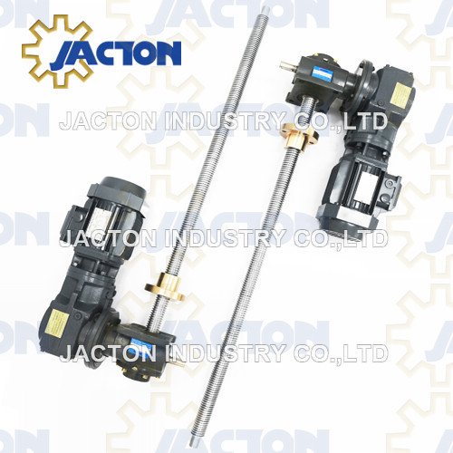 electric worm screw jack assembly 5 tons with traveling nut 36inch stroke