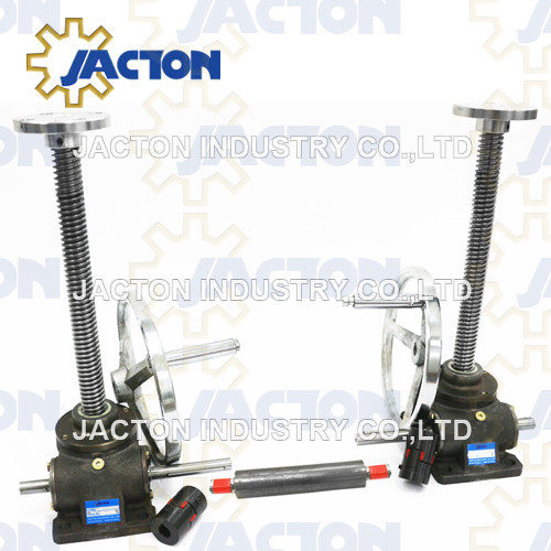 2.5 ton manual acme screw jacks for crank table or desk hand wheel screw jack