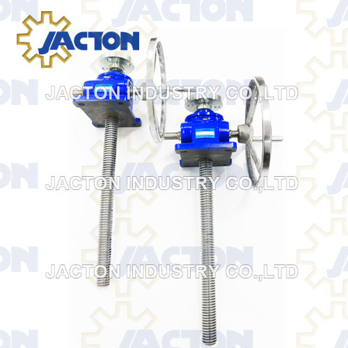 8:1 ratio hand worm screw lift 10 tons manual screw jacks 500 mm