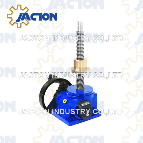 hand operated screw lift 1-tons force 24:1 ratio manual acme screw jack