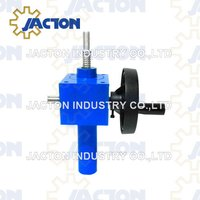 hand operated lifting screw jacks 50 kN force 150 length with position indicator