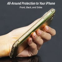 pTron Swarovski Crystal Metal Frame Bumper Flip Cover for iPhone 6