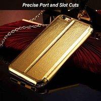 pTron Swarovski Crystal Metal Frame Flip Cover for iPhone 6 Plus