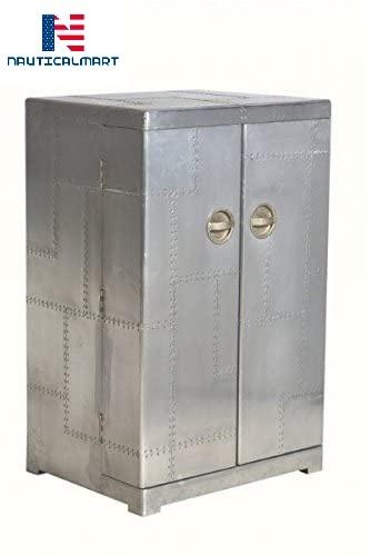 Aluminum Trunks Wine Style Wine Cabinet - Vintage Aviator Furniture