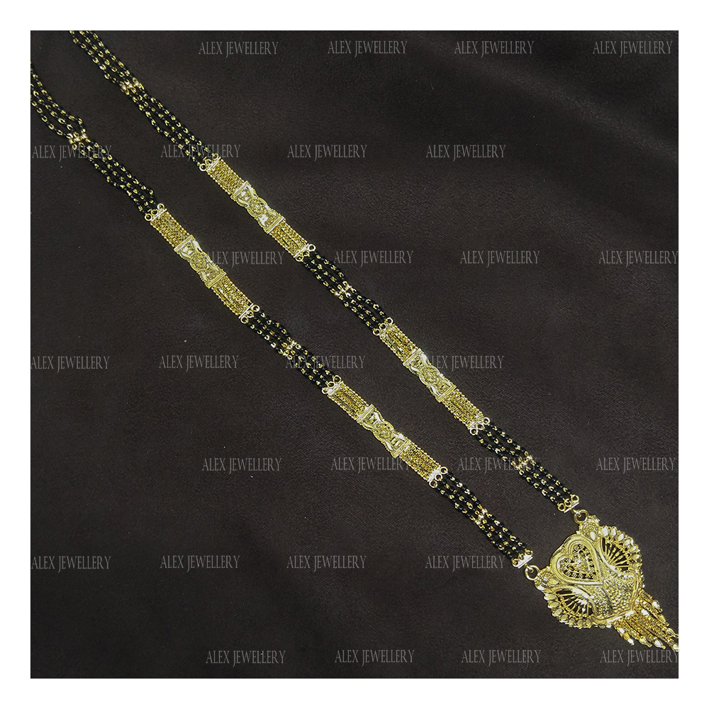 Latest Stylish Gold Plated Forming Mangalsutra
