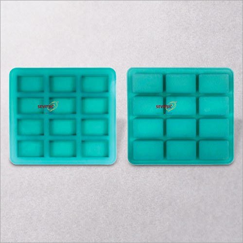 Rectangular Shape Silicone Soap Mould