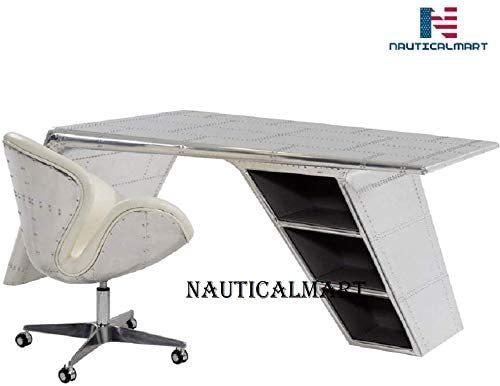 Aluminum Wing Desk Beautiful Handmade Furniture