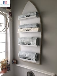 NAUTICALMART Darling Towel Rack with a Piece of Plywood and a Few Wood Scraps