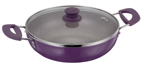 KADHAI 260MM GLASS LID INDUCTION BASE