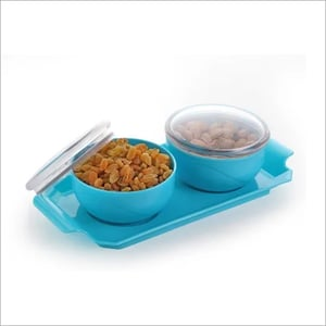 2 PC Dry Fruit Bowl With Tray