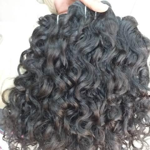 Raw virgin single donor curly human hair