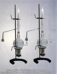 DISTILLATION APPARATUS  VERTICAL ALL GLASS (ELECTRICAL HEATED)
