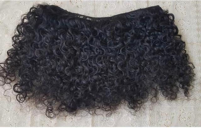 Raw curly indian hair