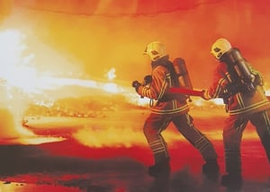 First line fire Fighting crew