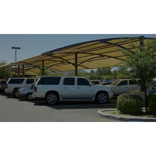 Telhado comercial do estacionamento do carro Tensile