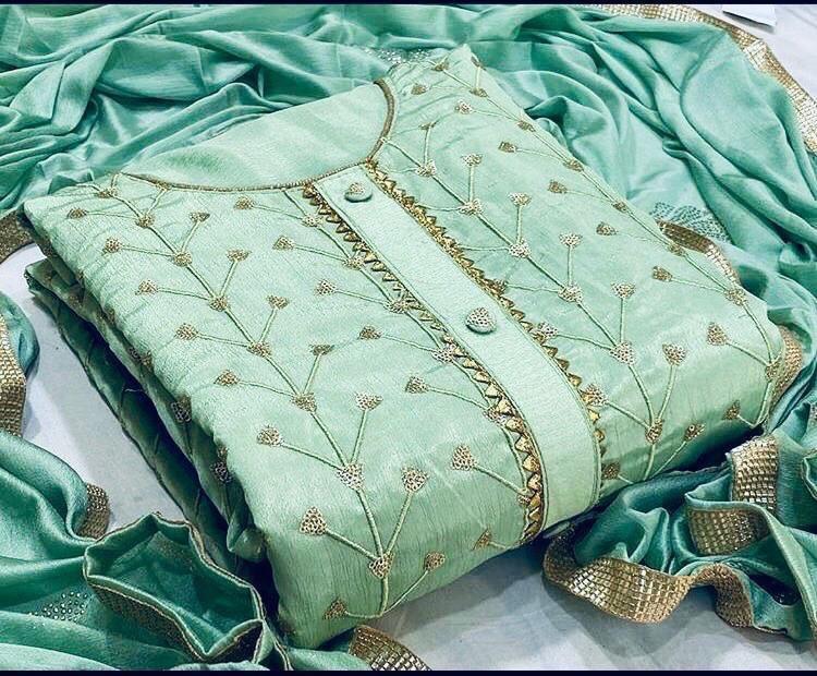 Chanderi ladies suit