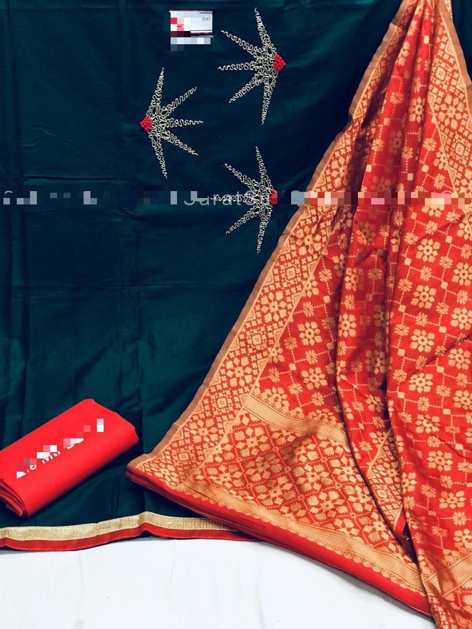 Khatali work cotton dress