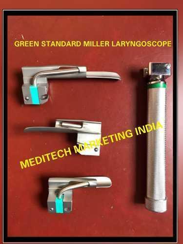 Fiber Optic Laryngoscope Blades Miller Green Standard