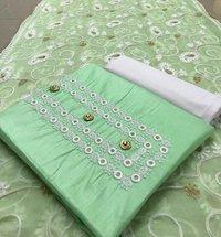 Semi stiched dress material