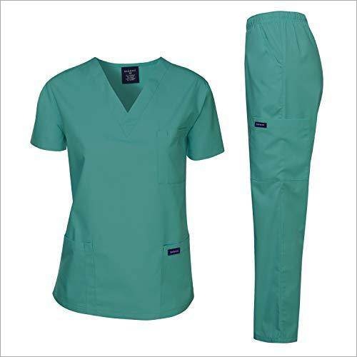 Blue Hospital Nursing Staff Uniform