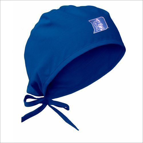 Blue Cotton Surgical Cap