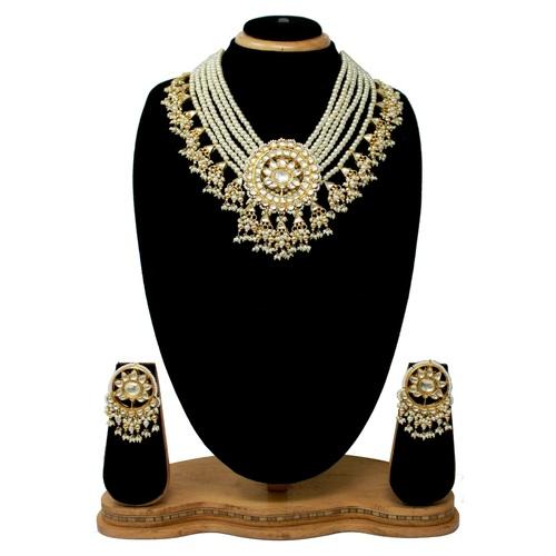 Gold Plated Kundan Necklace Set