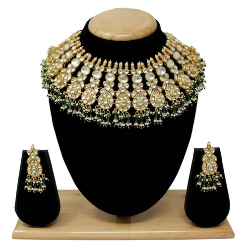 Gold Plated Kundan Necklace  Set