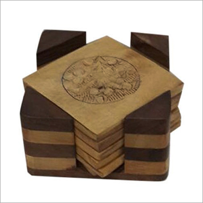 Engraved Wooden Coaster