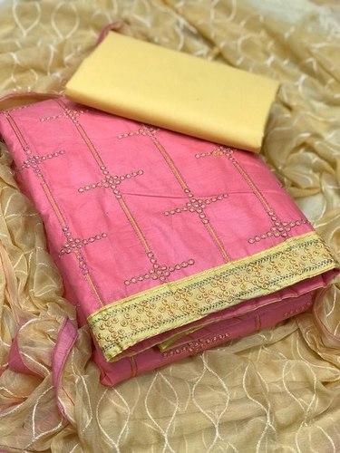 Cotton unstitched dress material