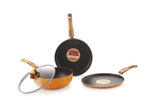 Nirlon Orange Flamy Cookware Gift Set