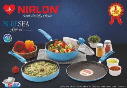 Nirlon Blue Sea Cookware Gift Set