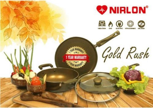 Nirlon Gold Rush Cookware Gift Set